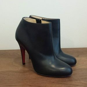 promo code 48587 7a755 New Christian Louboutin Belle Round Toe Bootie